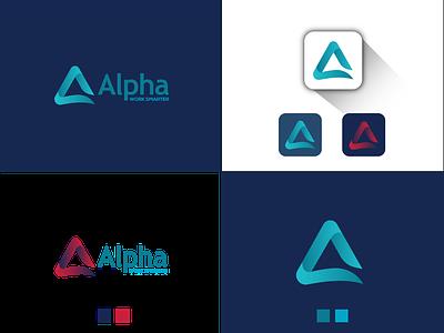 A logo web ux ui logo mark flat logo logo branding app a letter logo letter logo a logo