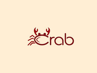 Crab Logo sea crab logo sea logo wordmark logo vector logo lettering logo logo mark branding logo creative logo simple logo minimal logo carb logo