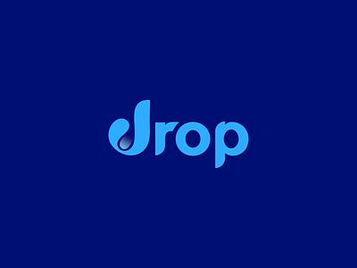 Drop ! ux ui web branding logo branding water drop logo water drop flat logo minimal logo simple logo wordmark wordmark logo drop logo