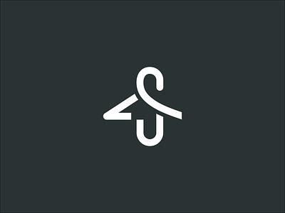 S logo creative s logo style s s woardmark simple logo fashion house branding fashion brand shirt logo hanger apparel s wear logo fashion logo apparel