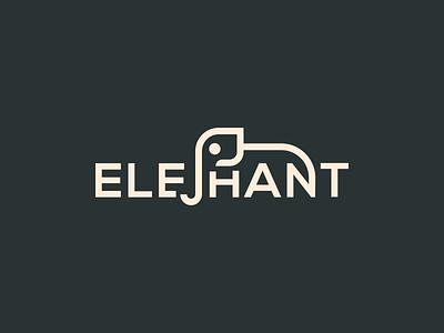 Elephant Wordmark creative logo simple logo minimal logo anaimal logo animal branding logo branding logo design logo wordmark logo wordmark elephant wordmark logo elephant logo elephant