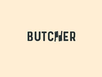Butcher Wordmark Logo ! typography logo typography creative logo simple logo logo design logo minimal logo branding logo branding meat logo animal logo wordmark logo wordmark butcher logo butcher