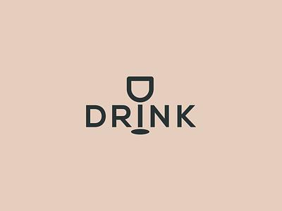 Drink Logo ! restaurant logo app juice logo logo inspiration branding simple logo creative logo wine wine logo bar logo lettering logo logomark logo design logo wordmark logo wordmark drink wordmark drink logo juce drink