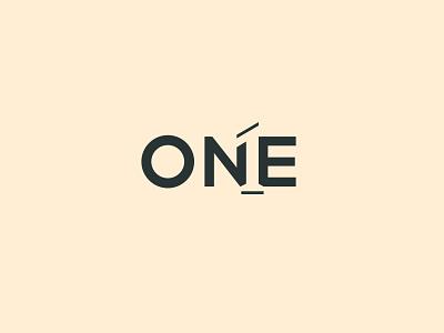 One ! numeric creative one logomark logo design logo simple logo branding negative space logo negative space wordmark logo wordmark 1st logo one logo one