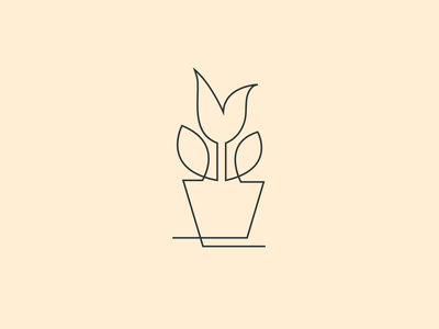 Flower Line Art Logo Designs Themes Templates And Downloadable Graphic Elements On Dribbble