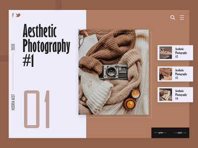 Aesthetic Web Design daily vector flat minimal app typography illustration website concept designer ux ui design web design web photograhy aesthetic
