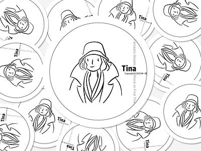 Tina tina illustration line art logo