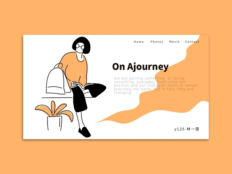 On Ajourney work study illustration landing page home page