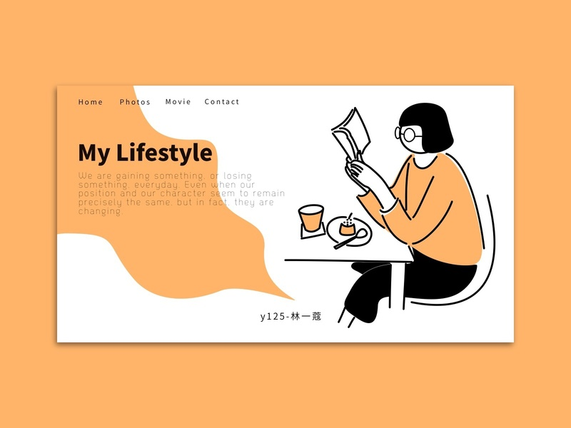 My Lifestyle teatime lifestyle study landing page illustration home page