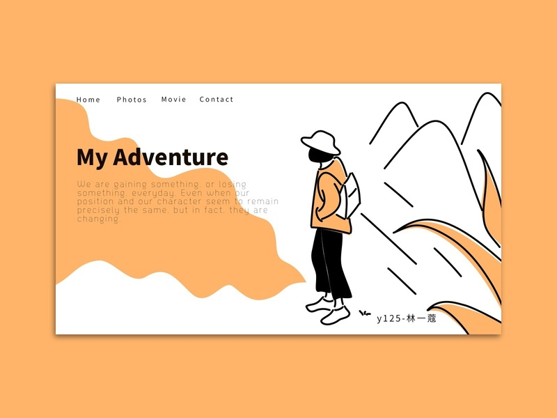 travel travel landing page home page illustration