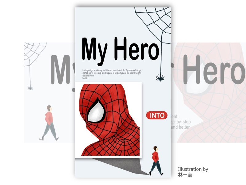 spider man superhero spider man banner home page illustration