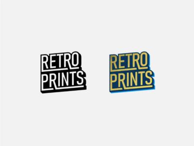 Retro prints logotype