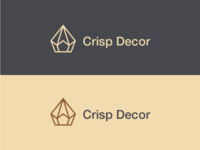 Crisp decor logo design