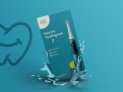 Smile Brush | Brand Identity visual identity stationary design business card blue modern small business toothbrush graphic design branding brand identity