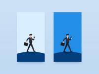 A walking business man