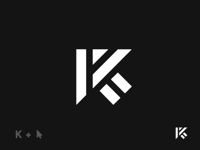 K-Arrow minimal pointer mouse arrow lettek k wordmark monogram logo
