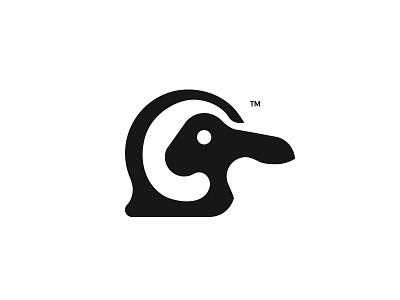 Penguin + Rabbit rabbit penguin branding hidden logo negativespace minimal birdlogo animallogo
