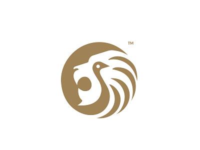 Lion + Swan lion swan branding hidden logo negativespace minimal birdlogo animallogo