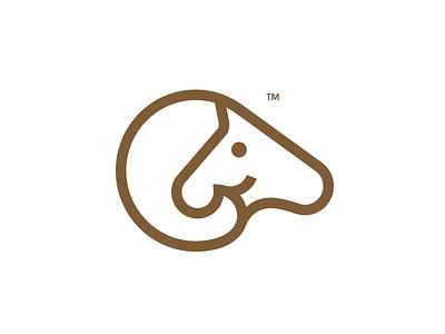 Horse + Goat minimal negativespace logo goat horse animal