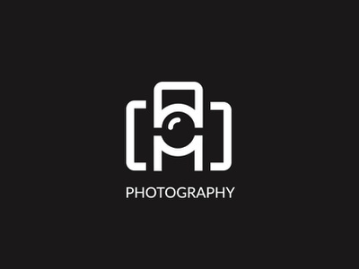 AM photography lettersmark letters wordmark photography logo