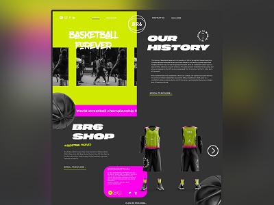 BR6 ui web webdesign ui logo nike design branding color typography landing page design uidesign