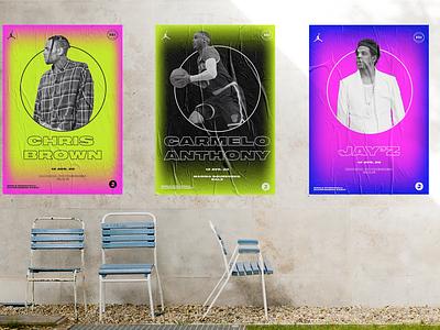 BR6 Poster gradient poster design nike typography design color branding