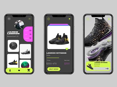 BR6 APP app design basketball nike color typography design web ui branding
