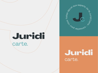 Juridi'carte logo typography design color branding