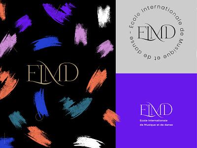 EIMD music school typography design color branding