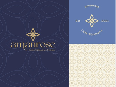 Amanrose coffe shop typography design color branding