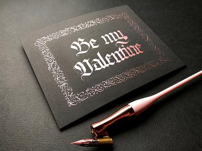 Be my Valentine 💕 calligraphy valentines