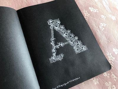 "Sakura ""A"" 36daysoftype handlettering lettering"