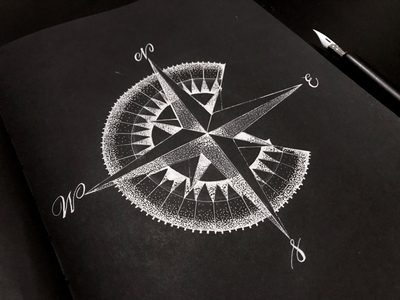 """""""C"""" is for Compass 36daysoftype handlettering lettering"""
