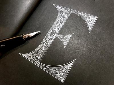 """""""E"""" is for Elegant 36daysoftype handlettering lettering"""