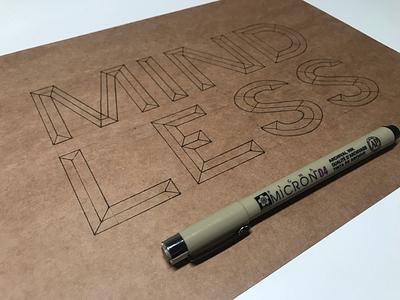 Mindless - Inktober 2019 2/31 handlettering lettering inktober