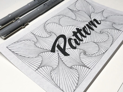 Inktober 2019 10/31 Pattern zentangle handlettering lettering inktober