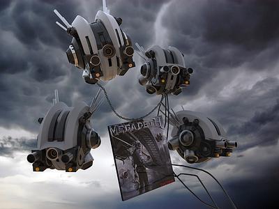 MEGADETH 3D ROBOT render metal rock band cinema4d megadeth illustration designer cgi c4d 3d
