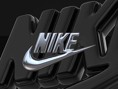 NIKE LOGO 3D tipografia logotipo logo design ilustração render illustration cinema4d 3dlogo designer modelagem cgi c4d 3d nikelogo sport nike