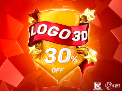 LOGO 3D - PROMO - MARCOS RODRIGUES logo renderizar tipografia estudos render illustration cinema4d 3dlogo cg designer modelagem cgi c4d 3d