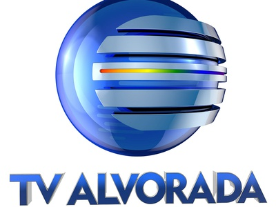 TV ALVORADA - PIAUÍ - REDE GLOBO renderizar ilustração logo estudos design logotipo tipografia illustration render cinema4d 3dlogo cg designer modelagem cgi c4d 3d typography canal tv