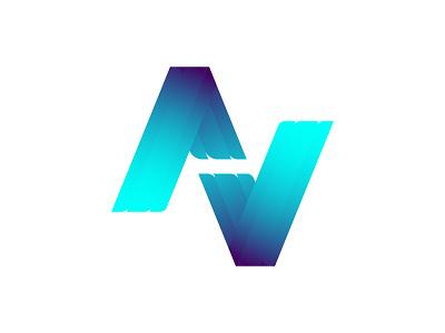 AV professional logo design icon logo branding flat grid logo vector logo design av logo