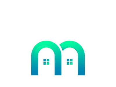 M logo With Home Icon Abstract logotype logo letter isolated illustration identity icon graphic geometric emblem element design creative corporate concept company business brand background abstract