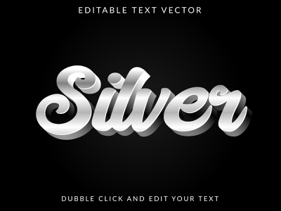 Silver Text Style silver shiny shining set reflection platinum nickel metallic metal luxury iron graphic gradient golden gold glowing glossy chrome bright aluminum