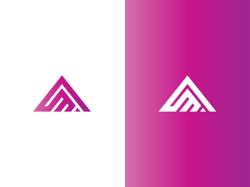 Am Logo m logo a logo professional logo icon vector design branding logo logo design flat symbol icon business and finance grid logo am logo