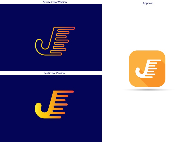 J Logo+App Icon blue web yellow professional logo illustration design grid logo vector branding logo design flat logo app icon j logo