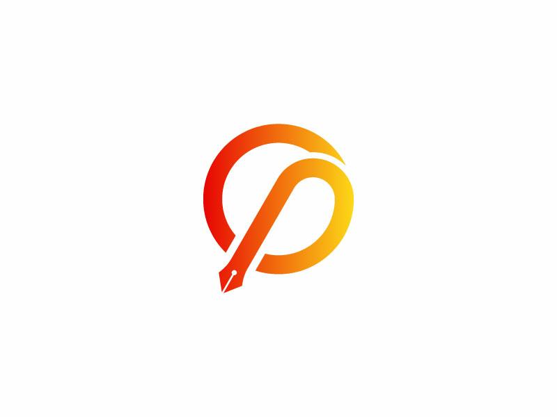 Cp Logo + Pen pen letter logo p logo c logo typography professional logo grid logo vector icon branding logo design flat