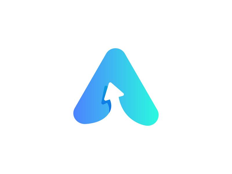 A+Arrow a  logo vector illustration professional logo grid logo branding logo design flat