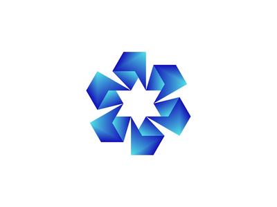 Negative Space  Star Logo