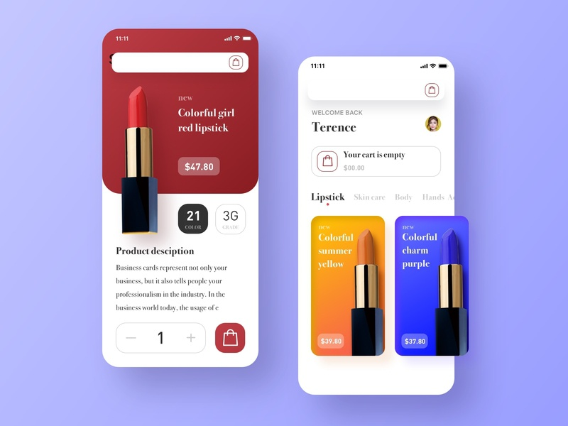 Shopping mall app | Daily UI practice 应用 ux 设计 ui