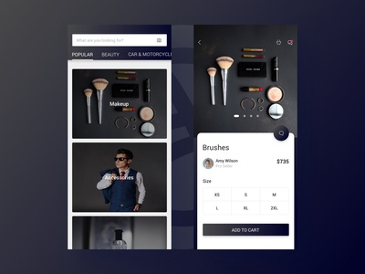 High-end cosmetics store | Daily UI practice